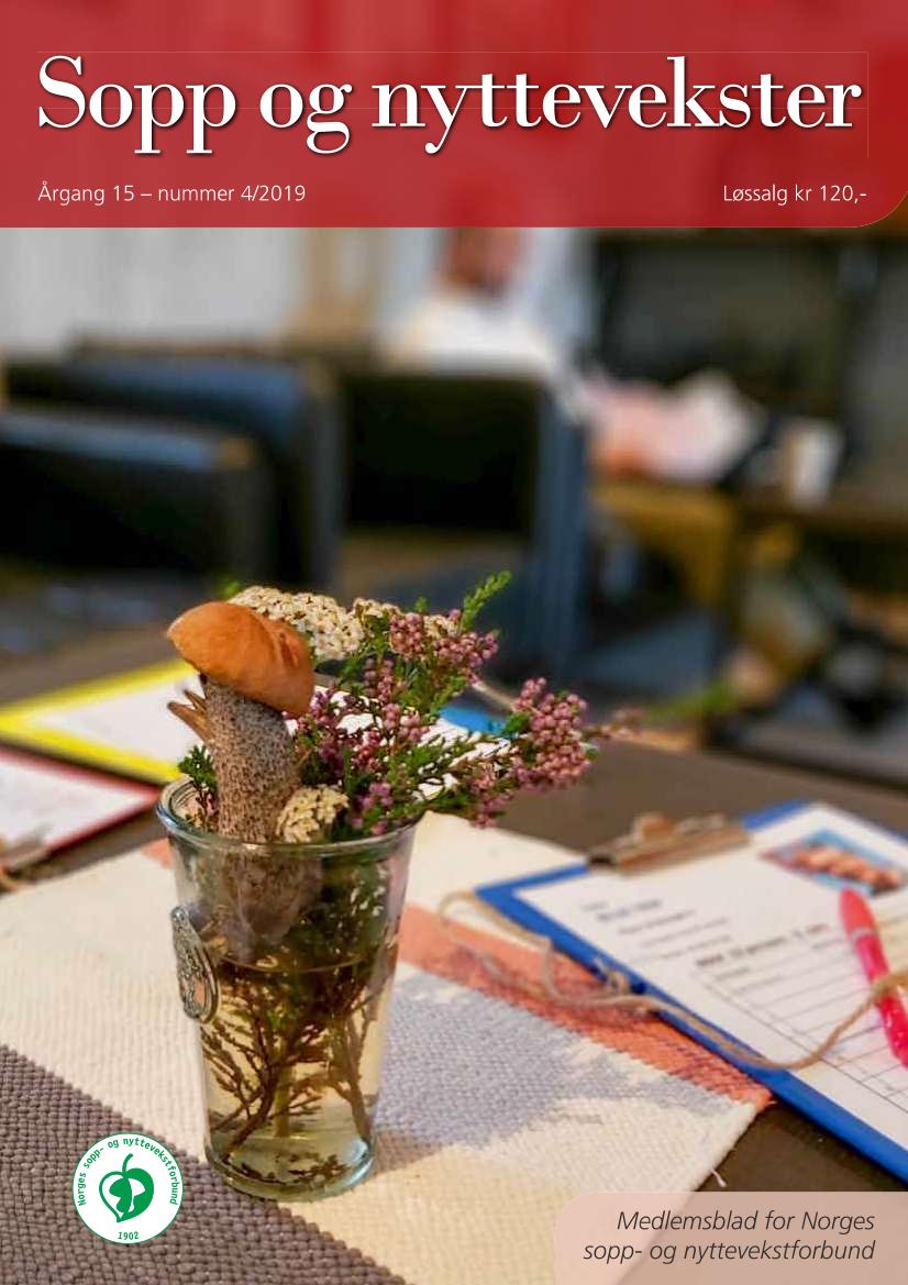 Forsiden på sopp og nyttevekster 4-2019