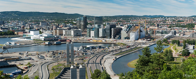 Oslo sentrum sett fra Ekebergskrenten. Foto: Sigurd Rage CC.BY.NC.SA.